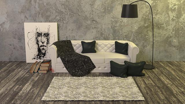 koberec před gaučem